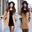 Korean woolen coat collar double-breasted wool coat thumbnail 2