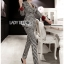 Valentina Sophisticated Chic Black and White Checked Suit Set thumbnail 3