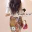 ( พร้อมส่งเสื้อผ้าเกาหลี) Set Little Bird match with Brown Skirt Flower Print by Seoul Scret thumbnail 6