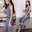 เสื้อผ้าเกาหลี พร้อมส่งJumpsuit คอปก งานสวยมากๆผ้าดีสุดๆ thumbnail 5