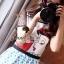 ( พร้อมส่งเสื้อผ้าเกาหลี) เดรสเนื้อผ้าโพลีเอสเตอร์ผสม Silk เนื้อผ้าเงานิดๆ สวยเก๋ด้วยงานพิมพ์ลาย Snow White & Red Apple ลายพิมพ์คมชัดสวยมากคะ สวยเด่นด้วยโทนสีแดงของ Apple ตัดด้วยโทนสีฟ้าของลายจุดที่กระโปรง ช่วงแขนมีดีเทลเก๋ๆ เย็บด้วยผ้าซีทรู thumbnail 5