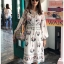 Deana Bohemian Printed & Embroidered White Dress thumbnail 5