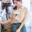 เสื้อผ้าเกาหลีพร้อมส่ง เชิ้ตผ้าชีฟองผสมคอตตอนตกแต่งลูกไม้สไตล์วินเทจ thumbnail 3