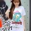 ( พร้อมส่งเสื้อผ้าเกาหลี) เสื้อยืดพิมพ์ลายเป็ด Disney Donald Duck ตัวนี้เหมาะกับสาวขี้เล่น ชอบความสนุก รักกางแต่งตัว เสื้อผ้าเนื้อดีพิมพ์ลายเป็ดโดนัลด์ดั๊ค น่ารักมากๆค่ะ ช่วงลายตรงคำพูดปักเลื่อมแบบประณีตมากๆ ช่วยเพิ่มลูกเล่นให้ดูไม่น่าเบื่อ thumbnail 5