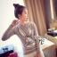 เสื้อผ้าเกาหลี พร้อมส่ง เสื้อแขนยาวปักเหลื่อมลายกระต่าย Bug Bunny thumbnail 3