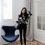 Chic black rose blouse thumbnail 5
