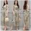 Miranda Natural Beauty Roses Printed Satin Midi Dress thumbnail 3
