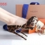 รองเท้าคัชชูส้นสูงเปิดหน้าเล็กน้อย ดีไซน์งานผ้าซาติน ลายเสือ สวยไฮโซ ใส่ออกงาน เลิศๆ เลยจ้า สูง 14 ซม เสริมหน้า 4 ซม  thumbnail 3