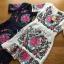 ชุดเดรสเกาหลี พร้อมส่งเดรสผ้าโพลีเอสเตอร์กระโปรงระบายปักลายดอกไม้สีสดใส thumbnail 11