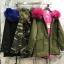 เสื้อผ้าเกาหลีพร้อมส่ง เสื้อกันหนาวตัวยาว บุขนด้านในทั้งตัว มีฮู้ด thumbnail 1