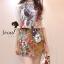 ( พร้อมส่งเสื้อผ้าเกาหลี) Set Little Bird match with Brown Skirt Flower Print by Seoul Scret thumbnail 3