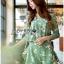 เสื้อผ้าเกาหลี พร้อมส่งเพลย์สูทสีเขียวมิ้นท์พิมพ์ลายดอกเดซี่สไตล์เฟมินีน thumbnail 9