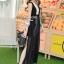 Elegant Stitch Black&White Long Dress thumbnail 2