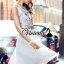 เสื้อผ้าเกาหลี พร้อมส่งSakura leaf belt dress thumbnail 2