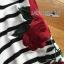 เสื้อผ้าเกาหลี พร้อมส่งเสื้อแขนยาวทรงโอเวอร์ไซส์ลายขวางปักดอกไม้ thumbnail 15