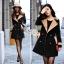 Korean woolen coat collar double-breasted wool coat thumbnail 5