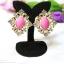 E149006 Shocking Pink Earring ต่างหูทองสีชมพู thumbnail 2