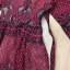 ชุดเดรสเกาหลี พร้อมส่งRed Wine Lace Luxury Dress thumbnail 7