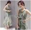 Miranda Natural Beauty Roses Printed Satin Midi Dress thumbnail 4