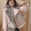 Lisa Pastel Faux Fur and Suede Jacket thumbnail 4