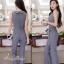 เสื้อผ้าเกาหลี พร้อมส่งJumpsuit คอปก งานสวยมากๆผ้าดีสุดๆ thumbnail 6