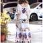 Amelia Colourful Printed White Crepe Dress thumbnail 6
