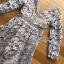 ชุดเดรสแฟชั่นพร้อมส่ง เดรสผ้าลูกไม้สีเทาอมฟ้าไลแล็คสไตล์แบรนด์ Self-Portrait thumbnail 7
