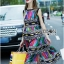 Alice Vivid Colorful Graphic Printed Maxi Dress thumbnail 6