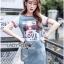 ชุดเดรสเกาหลี พร้อมส่งเดรสผ้าเดนิมพิมพ์ลายสไตล์สตรีทสุดเก๋ thumbnail 4