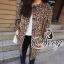 เสื้อผ้าเกาหลี พร้อมส่ง โค้ชตัวยาวลายเสือยอดฮิต เนื้อผ้าสักหลาดอย่างดี thumbnail 3