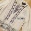 เสื้อผ้าเกาหลี พร้อมส่งเสื้อผ้าคอตตอนลินินปักลายดอกไม้ตกแต่งระบายสไตล์เฟมินีน thumbnail 13