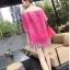 ชุดเดรสเกาหลี พร้อมส่ง มินิเดรสผ้าลูกไม้สีสดใส แพทเทิร์นทรงoversizedใส่ง่าย ใส่สบาย thumbnail 2