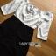 เสื้อผ้าเกาหลี พร้อมส่งจัมป์เปิดไหล่สีขาว-ดำสุดหรู thumbnail 13
