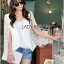 Maria Elegant Double-Breast White Lace Jacket thumbnail 2