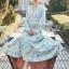 Eva Flower Blossom Printed Baby Blue Maxi Dress thumbnail 2