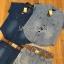 เสื้อผ้าเกาหลี พร้อมส่งเซ็ตเชิ้ตและกางเกงขาสั้นผ้าเดนิมพร้อมเข็มขัดสไตล์คาวบอย thumbnail 9
