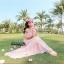 เสื้อผ้าเกาหลี พร้อมส่ง งาน Maxi ผ้าชีฟองเนื้ออย่างดี พิมลายดอกไม้สีสดใส รับ Summer thumbnail 4