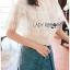 เสื้อผ้าเกาหลีพร้อมส่ง เชิ้ตผ้าชีฟองผสมคอตตอนตกแต่งลูกไม้สไตล์วินเทจ thumbnail 4