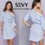 Mini dress รายริ้วฟ้าสลับขาว ทรงเก๋ thumbnail 3