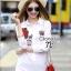 เสื้อผ้าเกาหลี พร้อมส่ง Shirt ตัวยาว ดีไซหน้าสั้น หลังยาว thumbnail 1