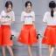 เสื้อผ้าเกาหลี พร้อมส่งCoCo Shirt + Skirt Pant Set thumbnail 4