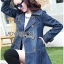 Sophie Winter Double-Breasted Washed Denim Coat thumbnail 6