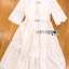 Jenny Laser-Cut and Embroidered White Cotton Dress thumbnail 7