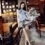 ชุดเดรสเกาหลี พร้อมส่งเดรสแฟชั่นแบรนด์เนม ลุค classy & casual thumbnail 6