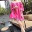 ชุดเดรสเกาหลี พร้อมส่ง มินิเดรสผ้าลูกไม้สีสดใส แพทเทิร์นทรงoversizedใส่ง่าย ใส่สบาย thumbnail 1