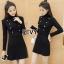 ชุดเดรสเกาหลี พร้อมส่งMini dress ไหมพรมลุคเรียบหรู thumbnail 2