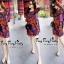ชุดเดรสเกาหลี พร้อมส่งเดรสชีฟองลายดอกไม้โทนสีแดงสวย thumbnail 4