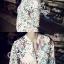 เสื้อผ้าเกาหลี พร้อมส่งPrinted Sweater Jacket thumbnail 6