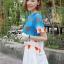 ( พร้อมส่ง) ชุดเข้าเซ็ทเสื้อกับกระโปรงลุคเก๋ๆค่ะ mix&match ได้อีกหลายสไตล์ เสื้อลายท้องฟ้าพิมพ์ลายหัวใจ พร้อมกระโปรงทรง A-line จีบเดรปสวย thumbnail 3
