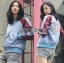 Yuna Street Chic Embroidered Two-Toned Bomber Jacket thumbnail 2